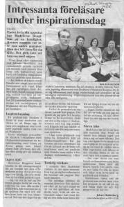 Smålandstidningen 20 nov 2008